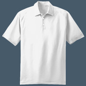 Embroidered NIKE Golf Dri FIT Mini Texture Polo (White)